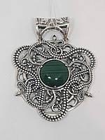 Серебряная подвеска с малахитом. Артикул 0691169119, фото 1