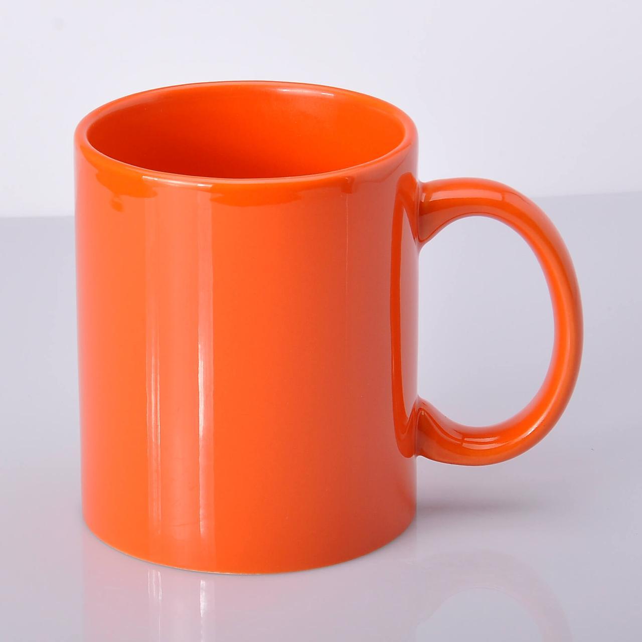 Чашка для сублимации цветная FullColor 330 мл Оранжевая