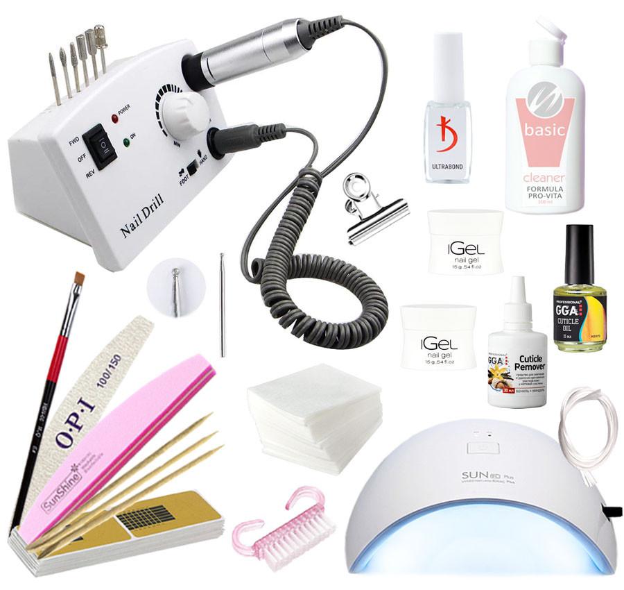 Стартовый набор для наращивания iGeL с LED лампой 36 Вт и фрезером DM-211