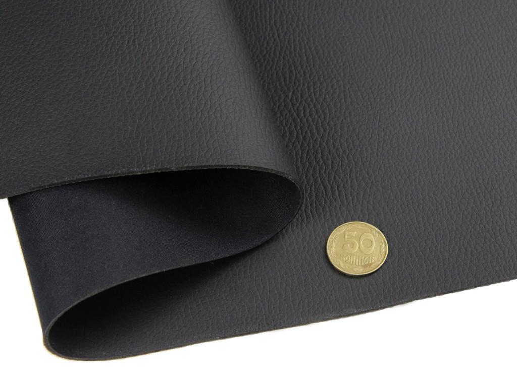 Термовинил tk-1m черный (матовый) (отрез 55х140см) для перетяжки руля на каучуковой основе