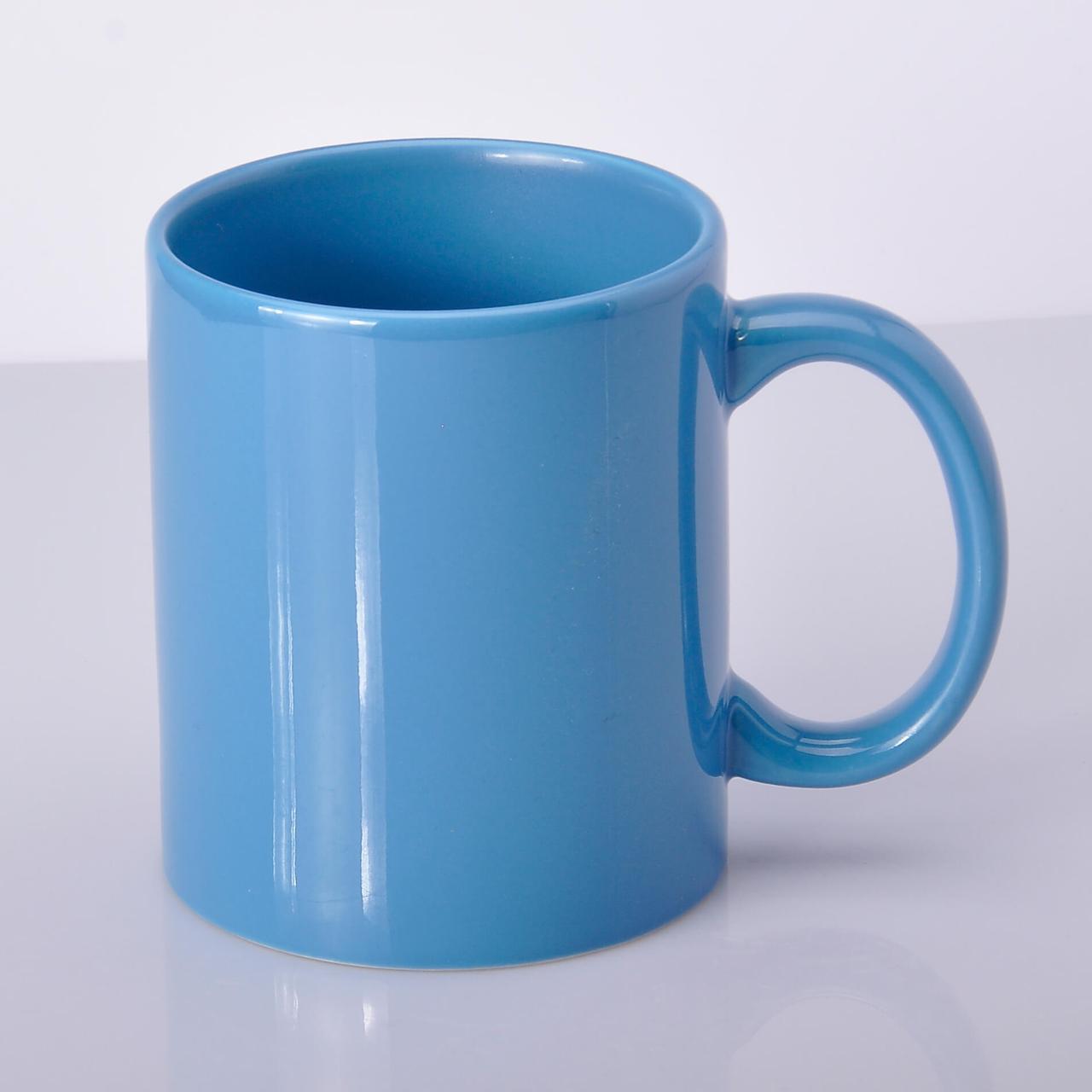 Чашка для сублимации цветная FullColor 330 мл Голубая