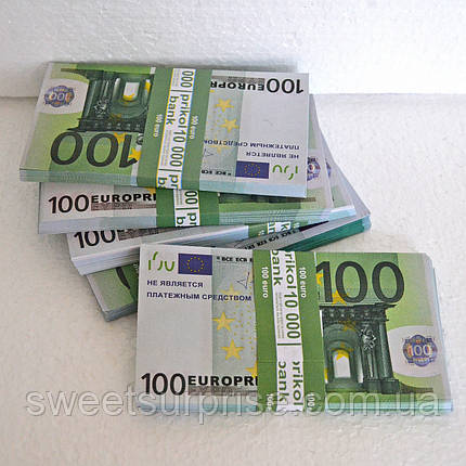 Деньги сувенирные 100 евро, фото 2