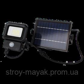 Прожектор светодиодный с датчиком движения LED LEBRON LF-10SOLAR, LI-ION 10W, 3,7V/2,6AH дневной свет