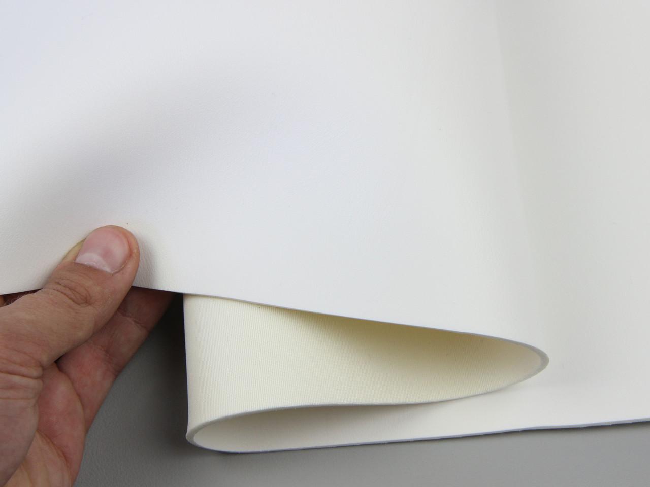 Термовинил tk-11 белый, гладкий (отрез 30х140см) для перетяжки руля, дверных карт, стоек на каучуковой основе