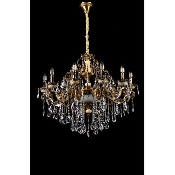 Люстра светильник классическая с хрустальными подвесками Splendid-Ray 30-3321-95