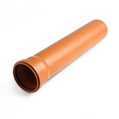 Труба 110 / 2000 мм (2.5) наружная рыжая монолитная Форт-пласт