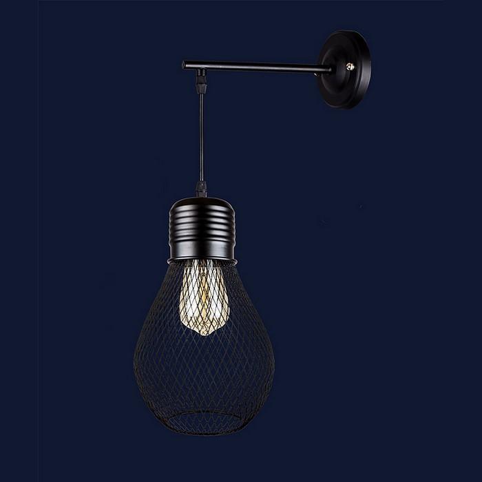 Світильники бра в стилі лофт Levistella 907W007F2-1 BK
