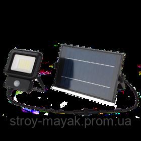 Прожектор светодиодный с датчиком движения LED LEBRON LF-20SOLAR, LI-ION 20W, 3,7V/5,2AH дневной свет