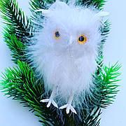 Новорічна прикраса.Ялинкова прикраса-сова біла.