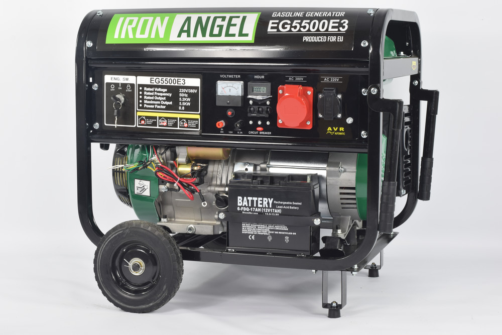 Генератор бензиновий Iron Angel EG 5500 E3 (5,5 кВт)