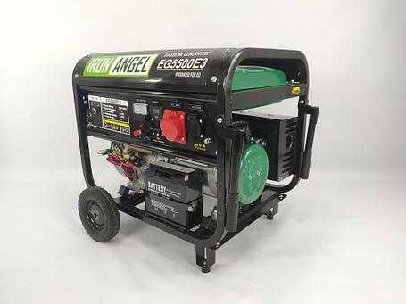 Генератор бензиновий Iron Angel EG 5500 E3 (5,5 кВт), фото 2