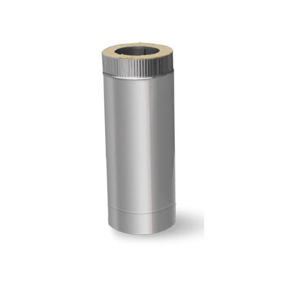 Труба термо ø 100/160 0.3 м сталь 0.5 мм нержавійка/оцинковка