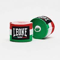 Бинты боксерские Leone Italy 3,5 м цвета флага Италии