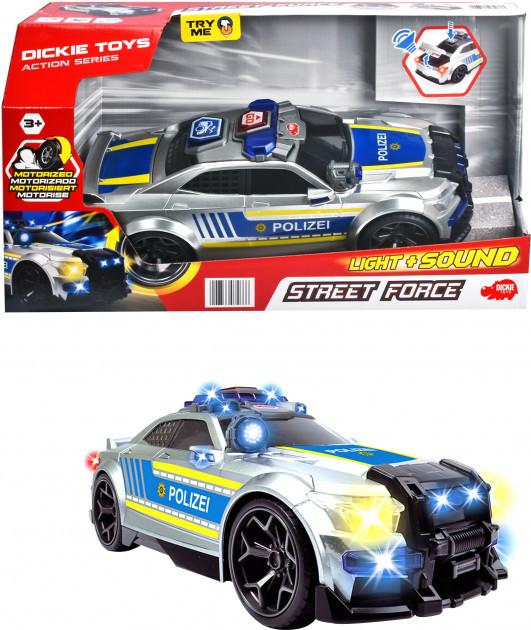 Автомобиль Dickie Toys Уличный патруль со звуковыми и световыми эффектами длина 33 см