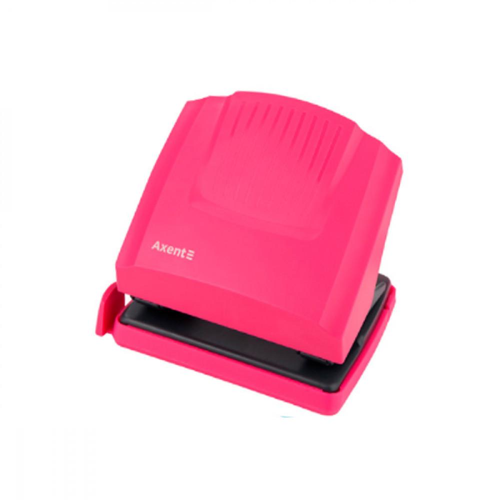 Діркопробивач Axent, 30 аркушів, 2 отвори, рожевий, 3430-10