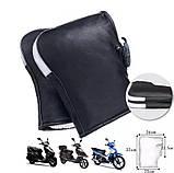 Зимние перчатки-чехлы на руль велосипеда, мотоцыкла, мопеда, ветрозащитные, снегозащитные Eco-obogrev P-moto, фото 4