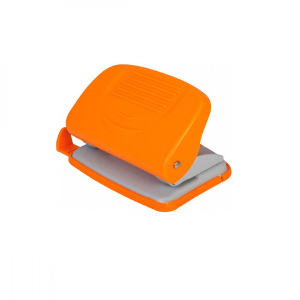 Діркопробивач Economix, 20 арк., пластиковий, з лінійкою, помаранчевий, E40134-06