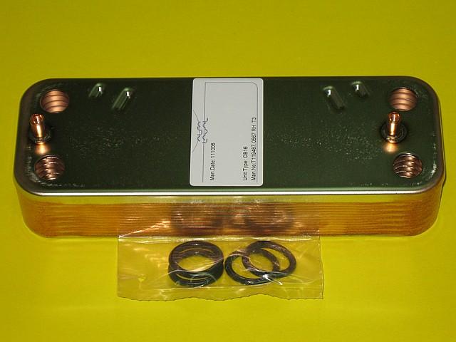 Теплообменник вторичный 8705406287 Junkers, Bosch Euroline ZW23-1, Ceraclass ZW24-2, ОW23-1
