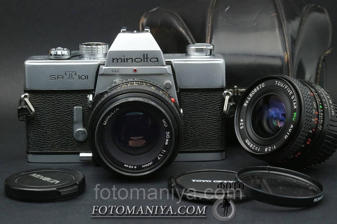 Minolta srT101 kit Minolta MD 50mm f1.7 + Five Star MC 28mm f2.8