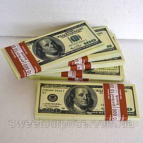Деньги сувенирные 100 долларов