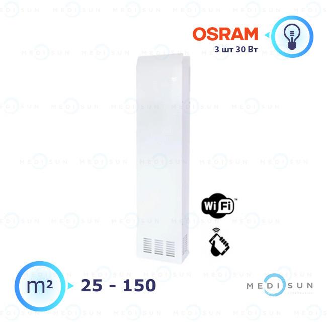 Бактерицидный рециркулятор обеззараживатель воздуха АЭРЭКС-ПРОФЕШНЛ 360 с WiFi Завет, лампа Osram