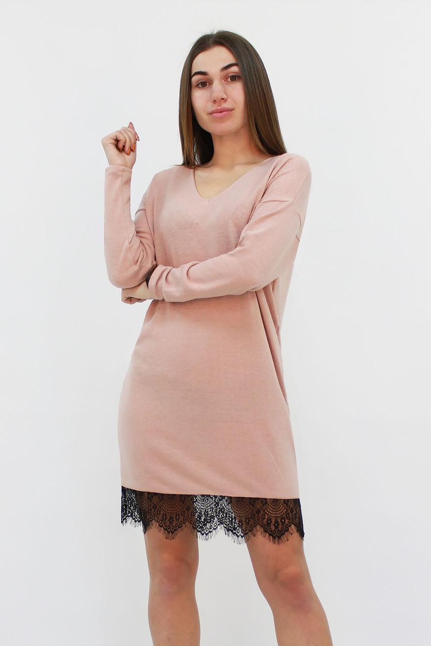 Свободное ангоровое платье-туника Kelly, бежевый