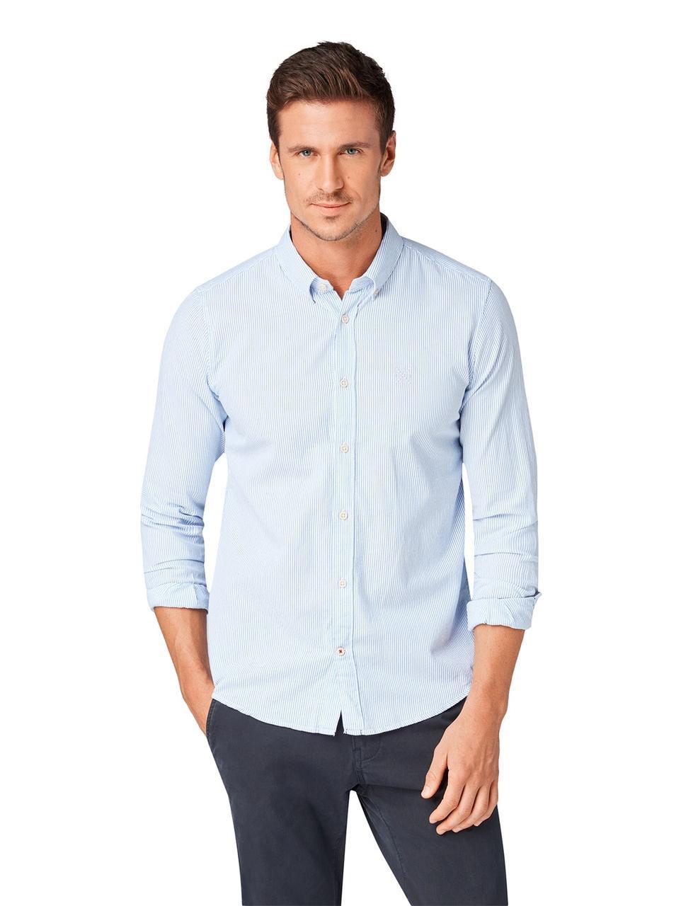 Рубашка Tom Tailor 1005208 M Голубой