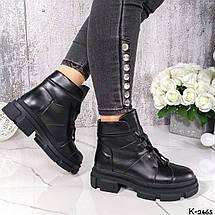 Ботинки женские кожаные натуральные черные, фото 3