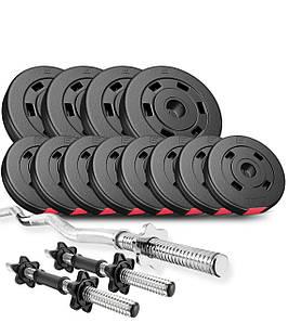 Набор Hop-Sport Premium 28 кг с W- или Z-образным грифом