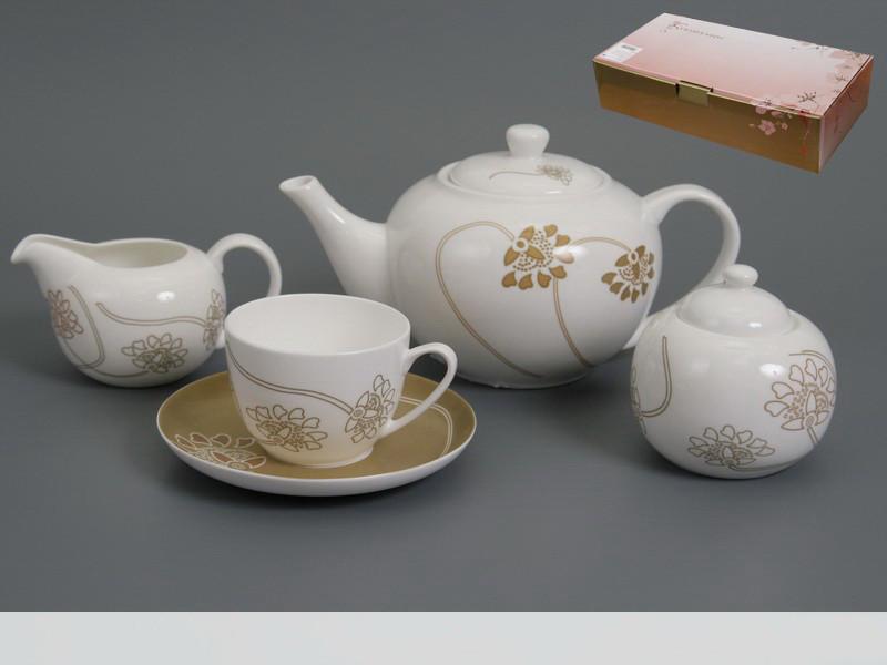 Чайний набір Japan Sakura Лотос на 15 предметів 440-013