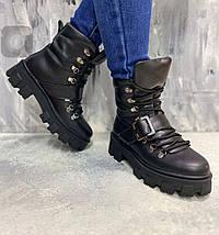 Стильные женские ботинки с ремешком на меху 36-41 р, фото 2