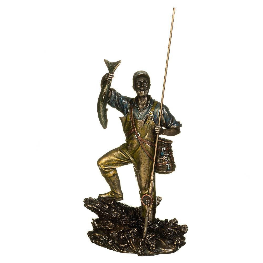 Статуетка Veronese Рибак з уловом 29 см 71125