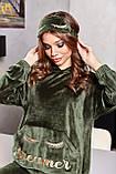 1661/7 Жіноча велюрова піжама різні кольори, фото 8
