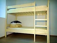 Двухъярусная кровать из дерева для Хостела 3900грн, фото 1