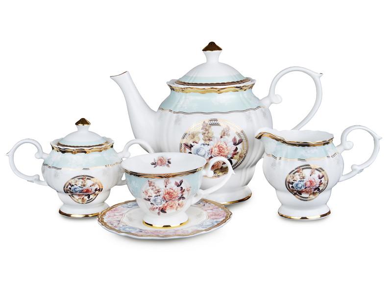 Чайний набір Lefard Ніжна троянда на 15 предметів 586-322