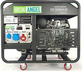 Генератор бензиновый Iron Angel EG18000EA30 (18 кВт, подготовка под блок ATS)