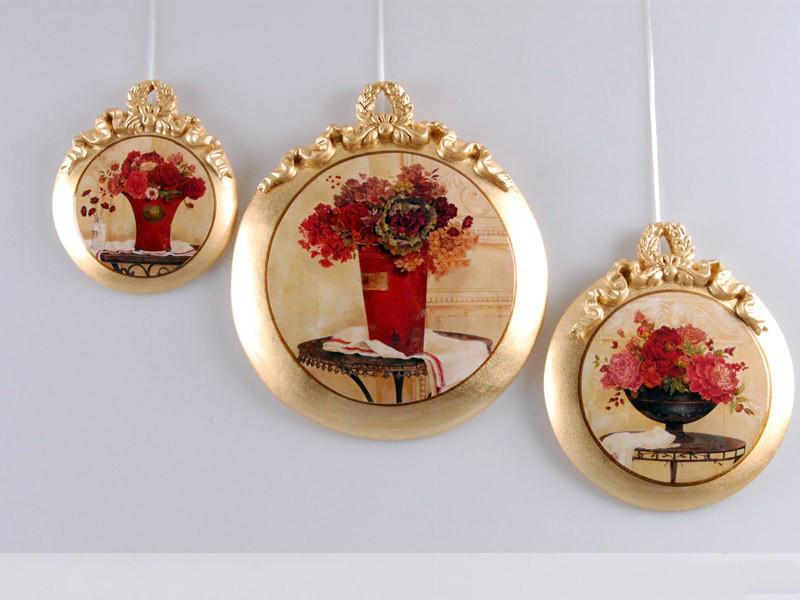 Набір з 3-х декоративних панно Квіти 623-112