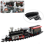 Детская Железная дорога 701829/YM-125 Эра паровозов длина пути 420 см, музыка, свет, дым, в коробке