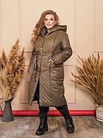 Теплое пальто женское батал, фото 1