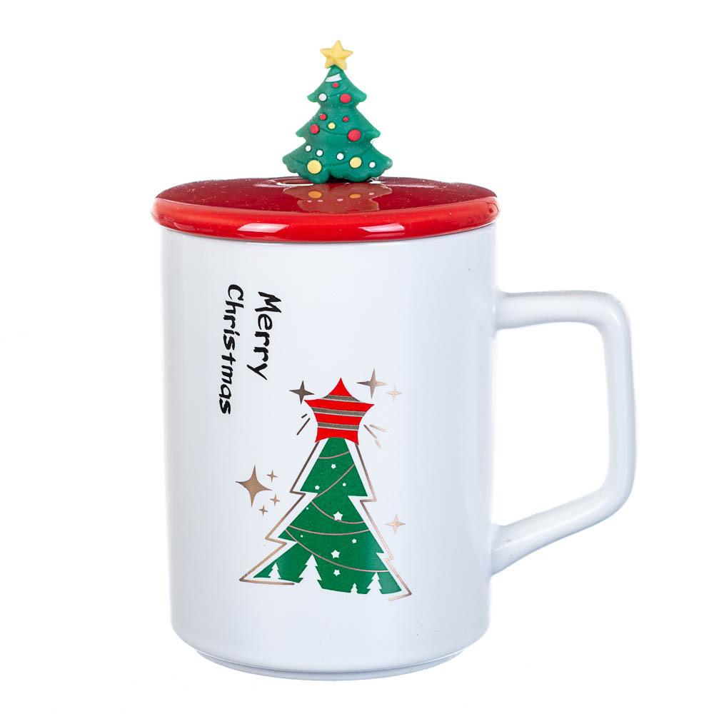 """Чашка """"Новорічний калейдоскоп"""" 300 мл*рендомний вибір дизайну (8200-027)"""