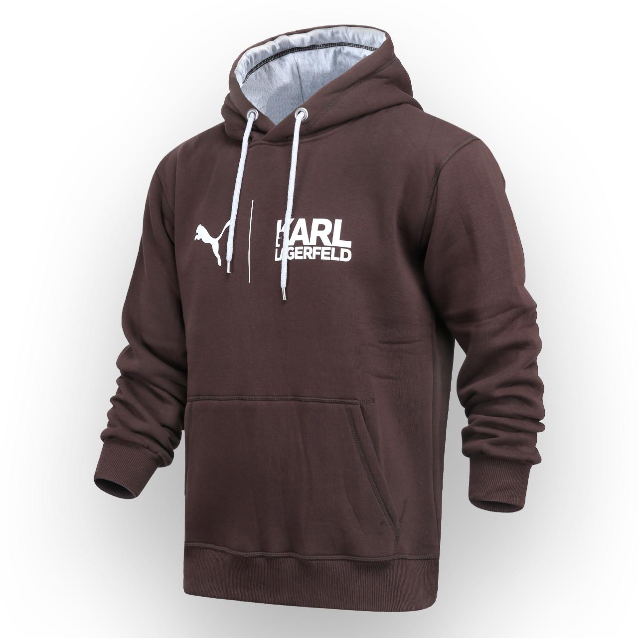 Худи осень-зима мужские коричневый KARL LAGERFELD - PUMA Т-2 BRN S(Р) 21-470-203