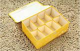 Оганайзер для белья на 8 ячеек с крышкой Коричневый, фото 3