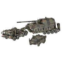Спецтехника Revell Транспортер + гаубица + бронемашина SLT503 (3204)