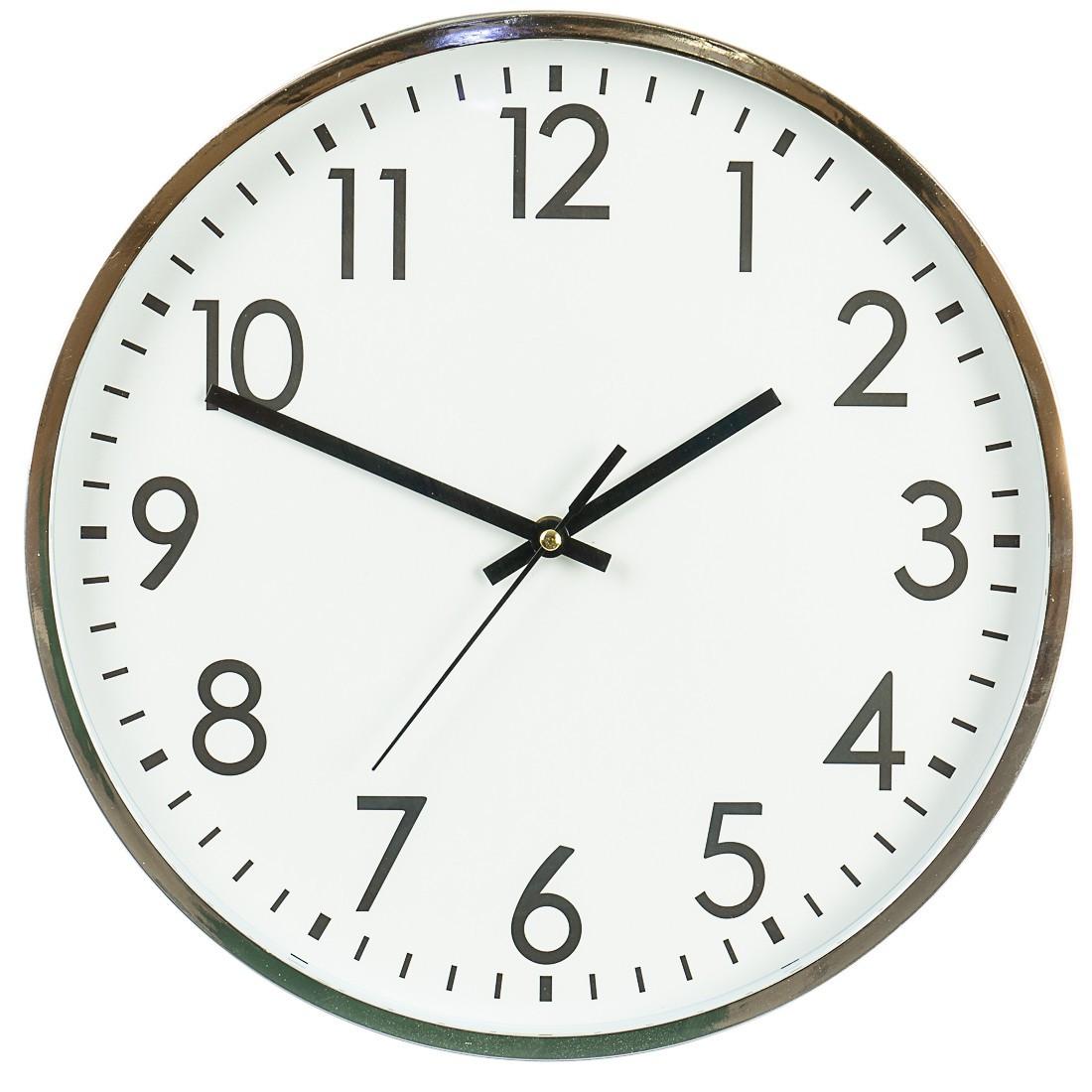Годинники настінні. кварцові 35,5 см 143A/silver