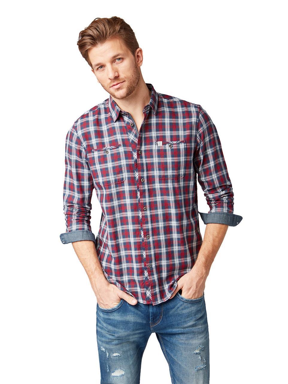 Рубашка Tom Tailor 1005865 L Бордовый