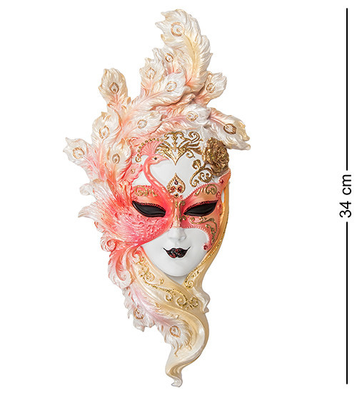 Статуетка Veronese Венеціанська маска Павич 34 см 1902241