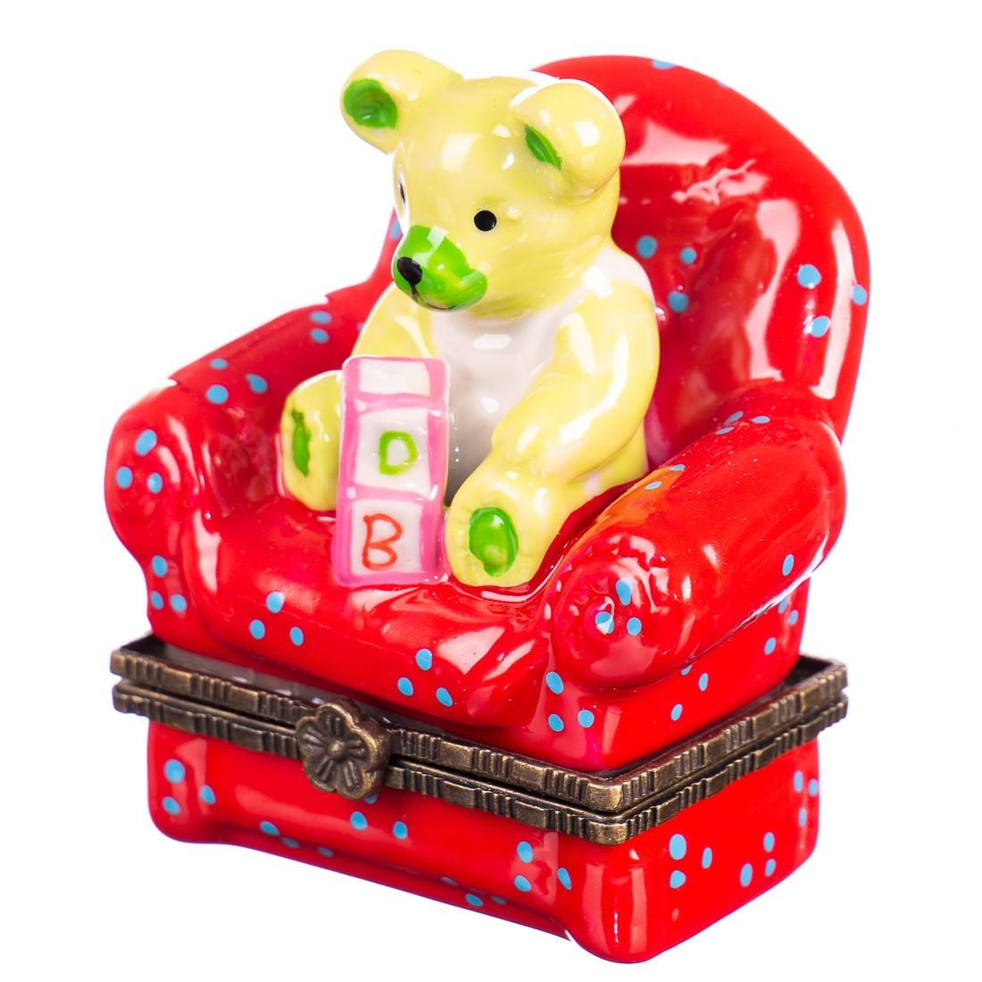 """Скарбничка """"Ведмедик на кріслі"""" 011E"""