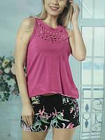 Лёгкая женская пижама, майка и шортики, размер М.