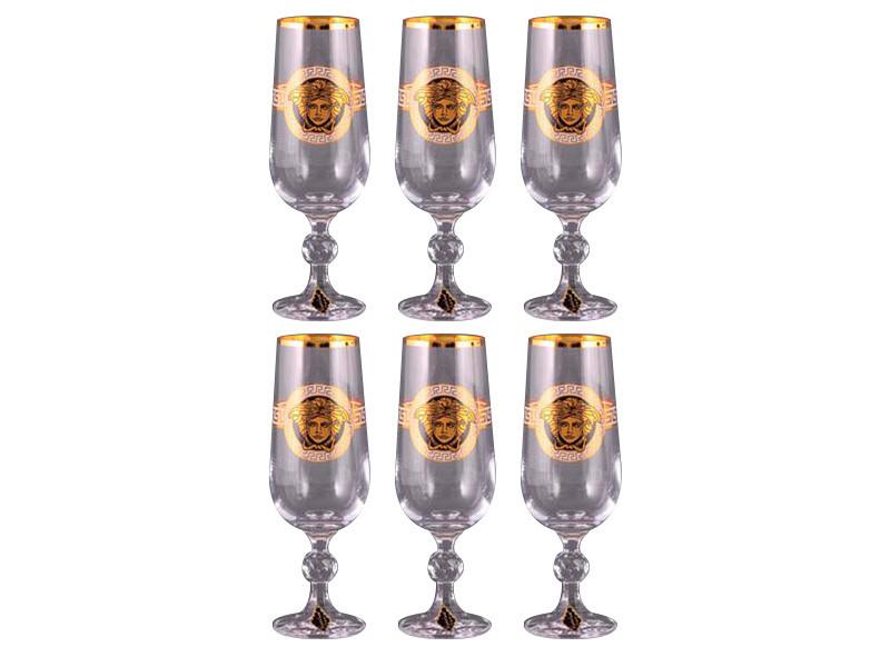 Набір келихів для шампанського Nb Art Медуза 6 штук 615-240