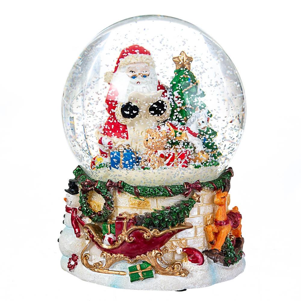 Снігова куля Lefard Вітання від Санти 13х10 см 16002-013